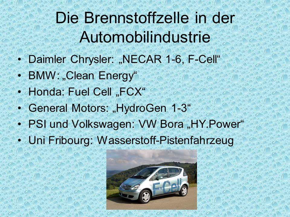 Die Brennstoffzelle in der Automobilindustrie