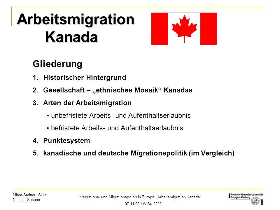 Arbeitsmigration Kanada