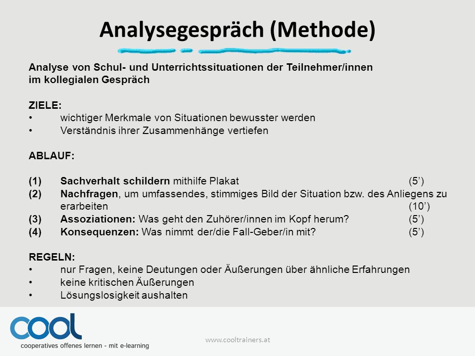Analysegespräch (Methode)