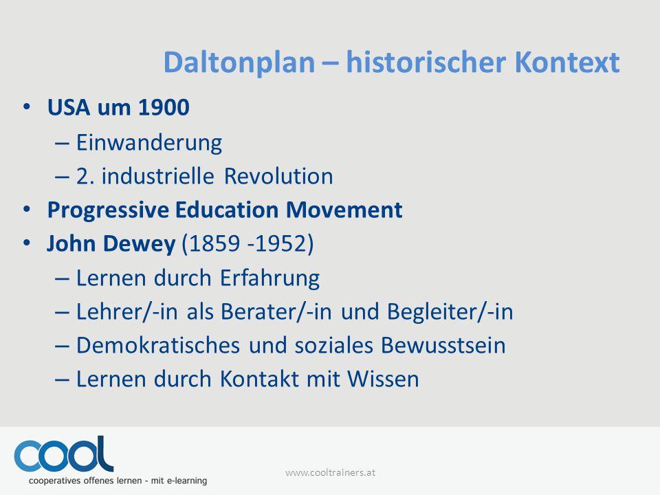 Daltonplan – historischer Kontext
