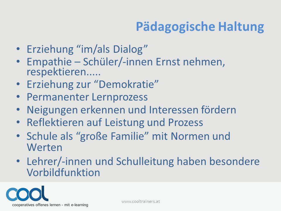 Pädagogische Haltung Erziehung im/als Dialog