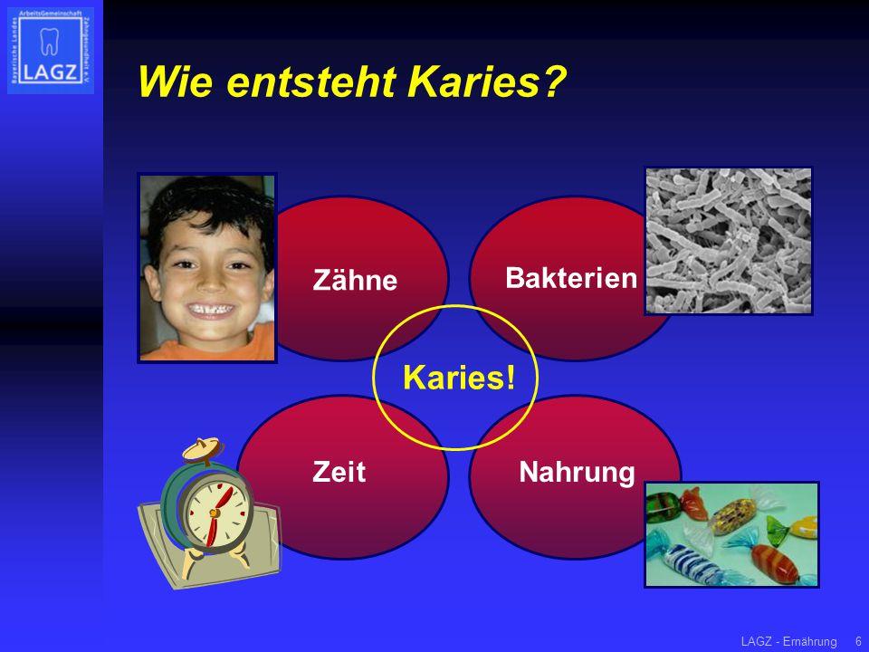 Wie entsteht Karies Karies! Zähne Bakterien Zeit Nahrung