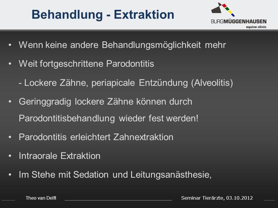 Behandlung - Extraktion