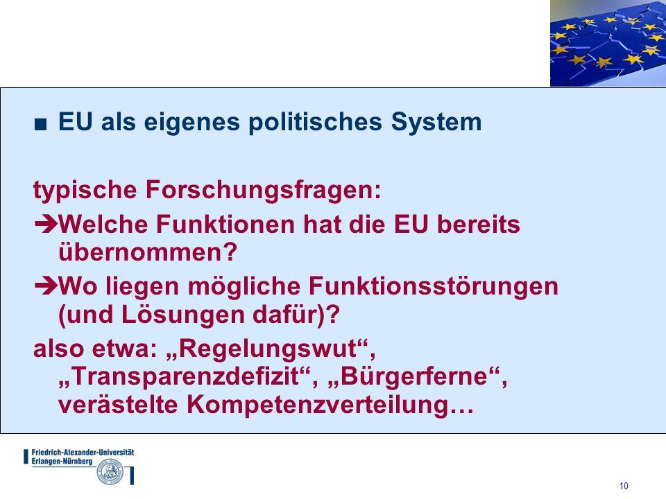 EU als eigenes politisches System