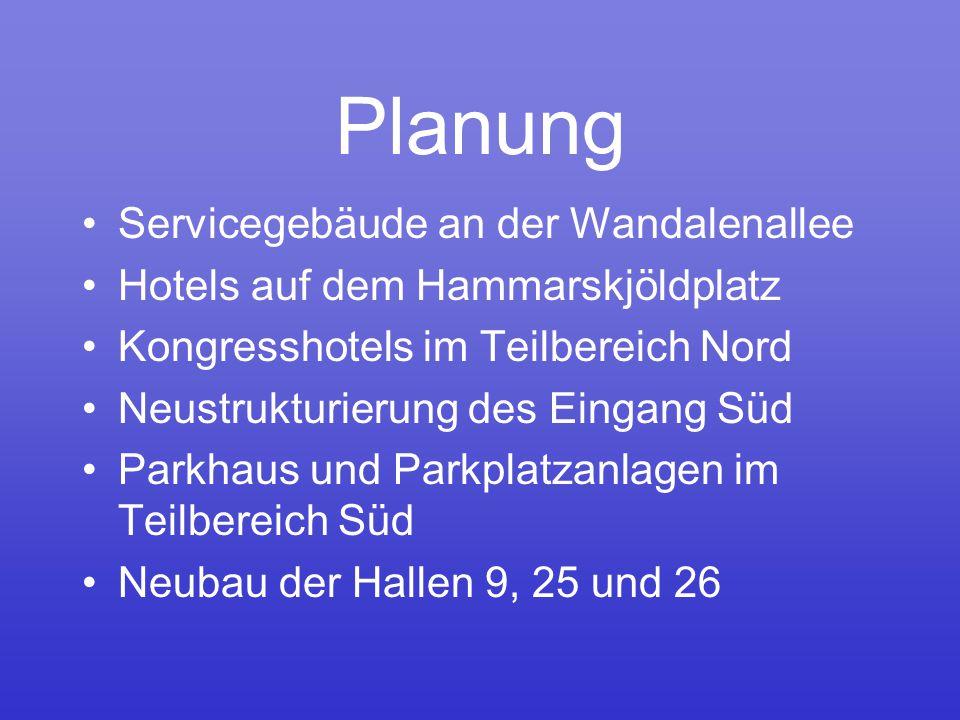 Planung Servicegebäude an der Wandalenallee