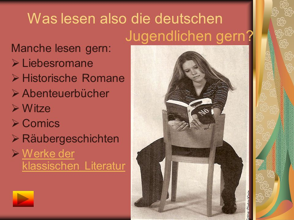 Was lesen also die deutschen Jugendlichen gern