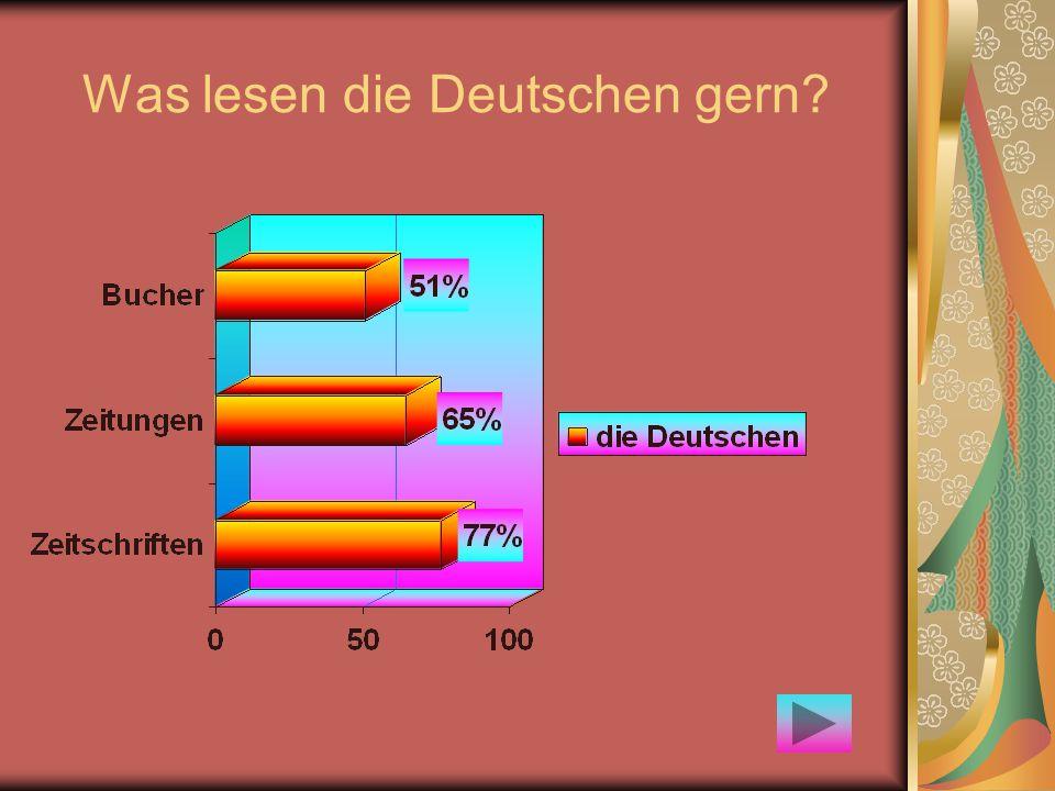Was lesen die Deutschen gern