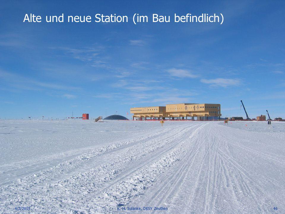 Alte und neue Station (im Bau befindlich)