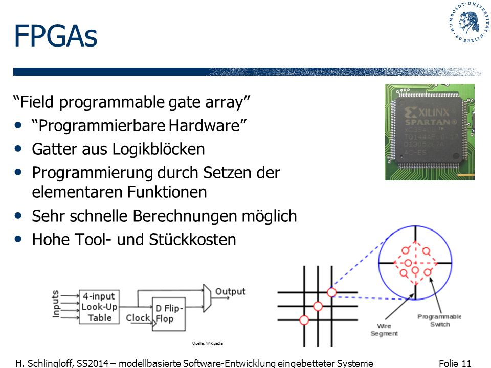 FPGAs Field programmable gate array Programmierbare Hardware
