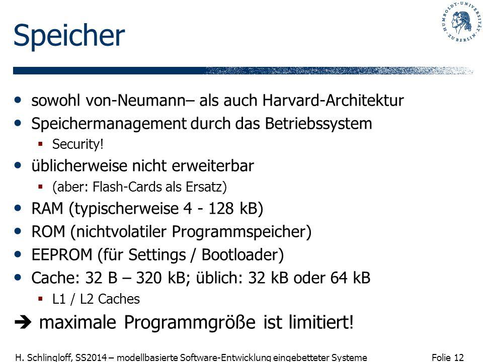 Speicher  maximale Programmgröße ist limitiert!