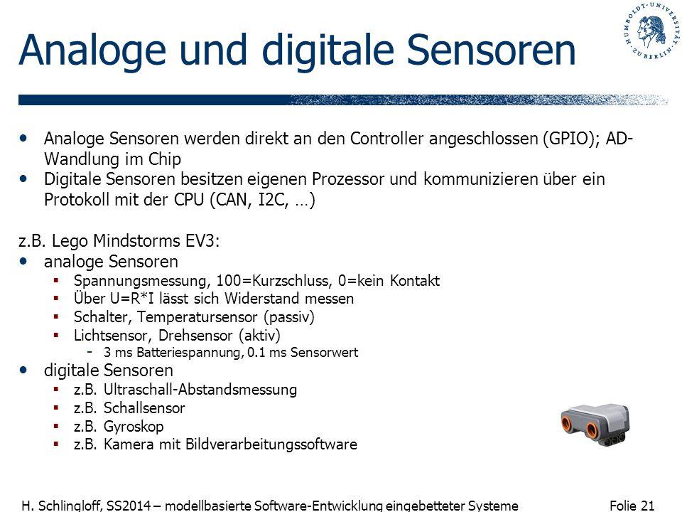 Analoge und digitale Sensoren