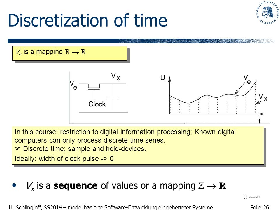 Discretization of time