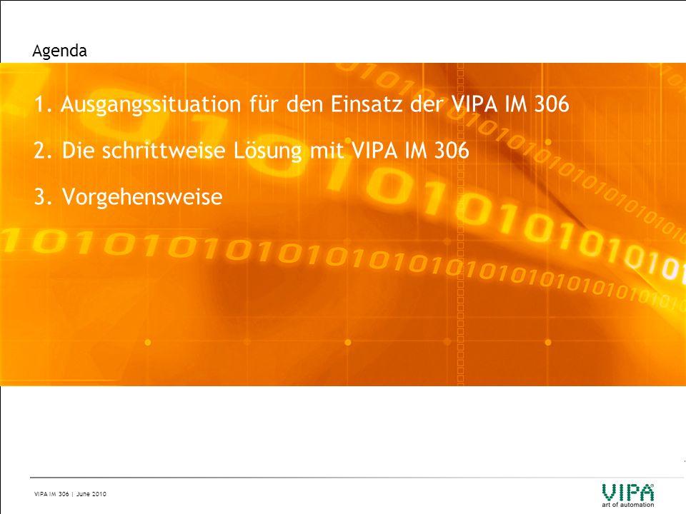 1. Ausgangssituation für den Einsatz der VIPA IM 306
