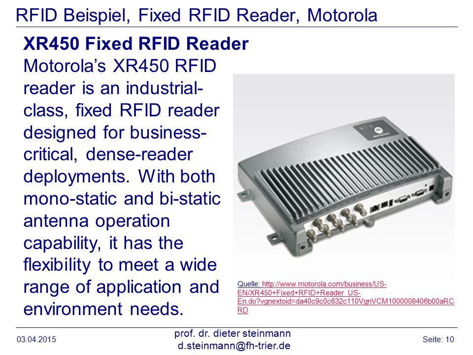 RFID Beispiel, Fixed RFID Reader, Motorola