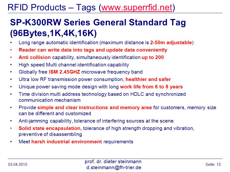 RFID Products – Tags (