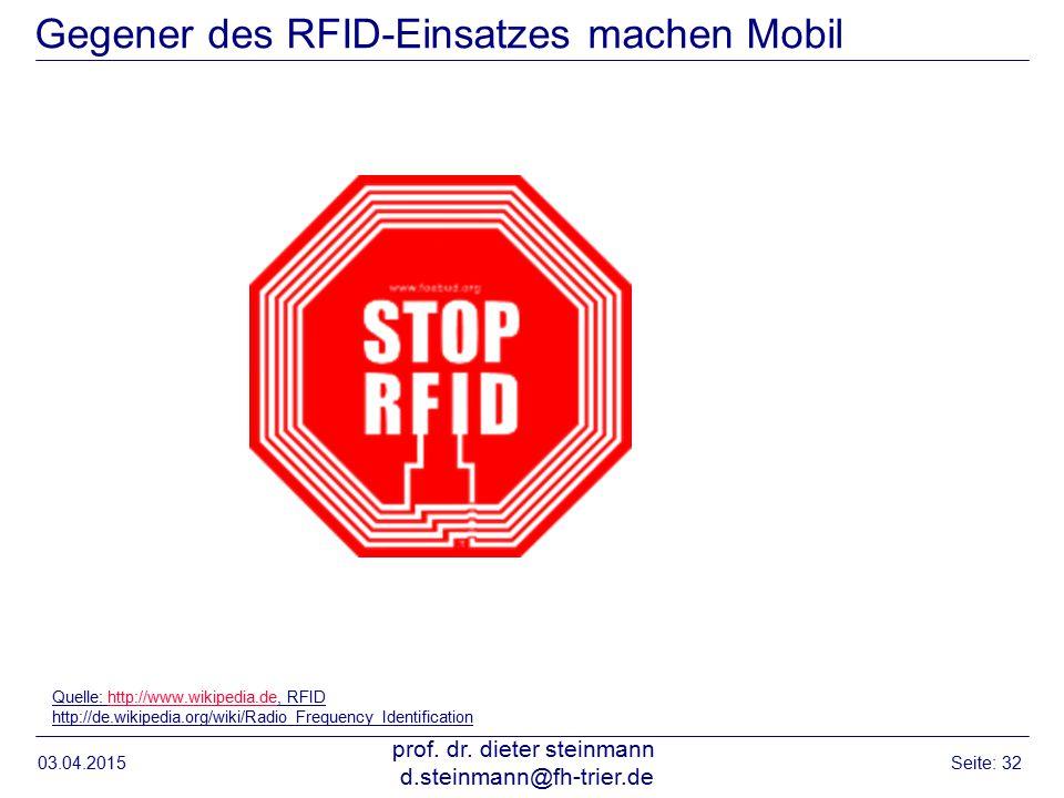 Gegener des RFID-Einsatzes machen Mobil