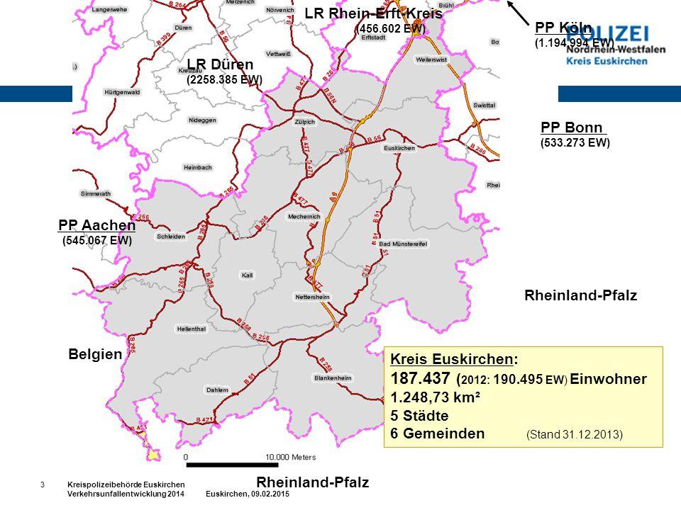 187.437 (2012: 190.495 EW) Einwohner LR Rhein-Erft-Kreis PP Köln