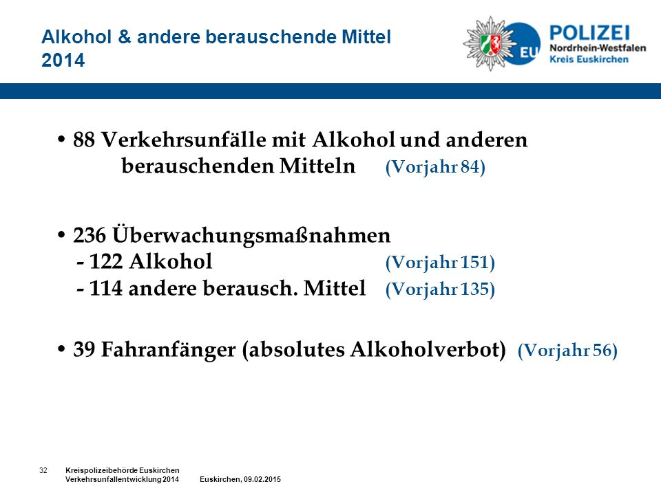 Alkohol & andere berauschende Mittel 2014