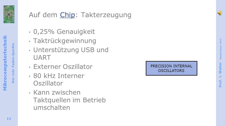 Auf dem Chip: Takterzeugung