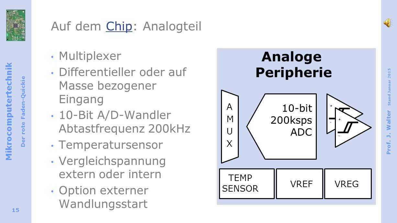 Auf dem Chip: Analogteil