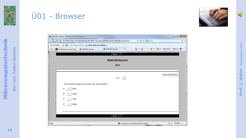Ü01 - Browser Im Browser sieht die Multiple Choice Aufgabe wie abgebildet aus.