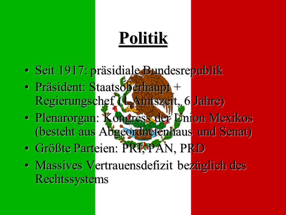 Politik Seit 1917: präsidiale Bundesrepublik