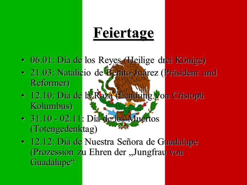 Feiertage 06.01: Día de los Reyes (Heilige drei Könige)