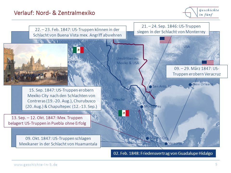 Verlauf: Nord- & Zentralmexiko