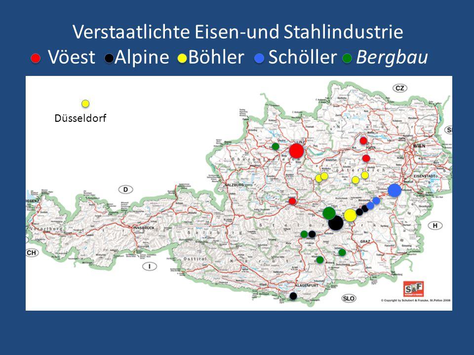 Verstaatlichte Eisen-und Stahlindustrie Vöest Alpine Böhler Schöller Bergbau