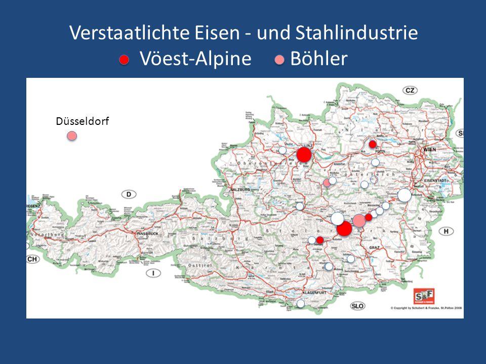 Verstaatlichte Eisen - und Stahlindustrie Vöest-Alpine Böhler