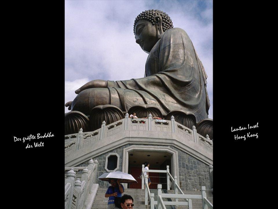 Der größte Buddha der Welt Lantau Insel Hong Kong