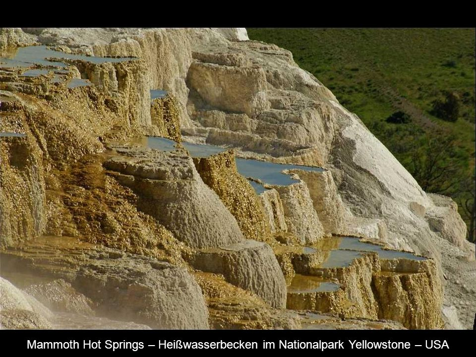Mammoth Hot Springs – Heißwasserbecken im Nationalpark Yellowstone – USA