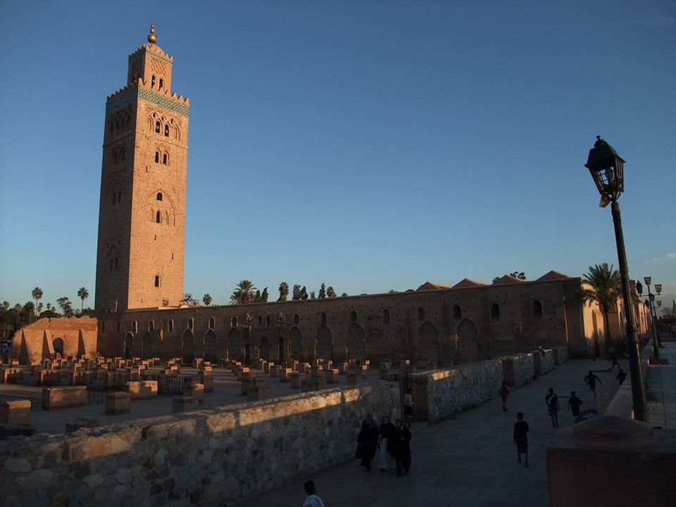 Minarett der Koutoubia, dem Wahrzeichen von Marrakesch - Marokko