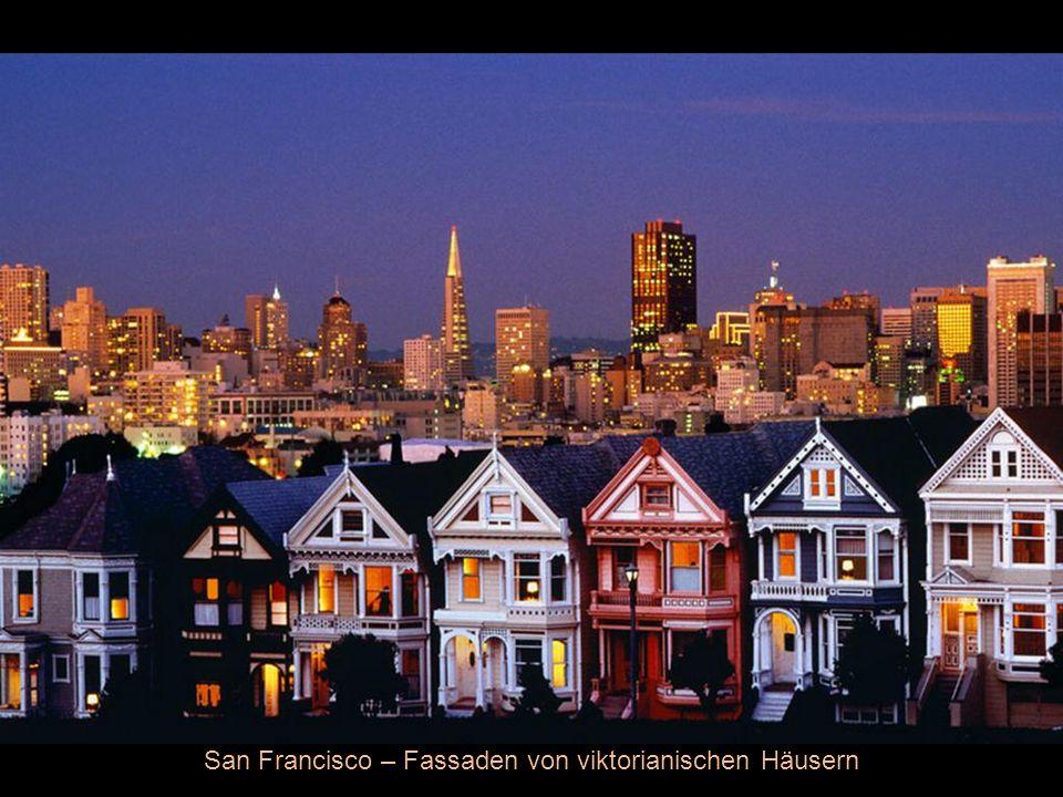 San Francisco – Fassaden von viktorianischen Häusern
