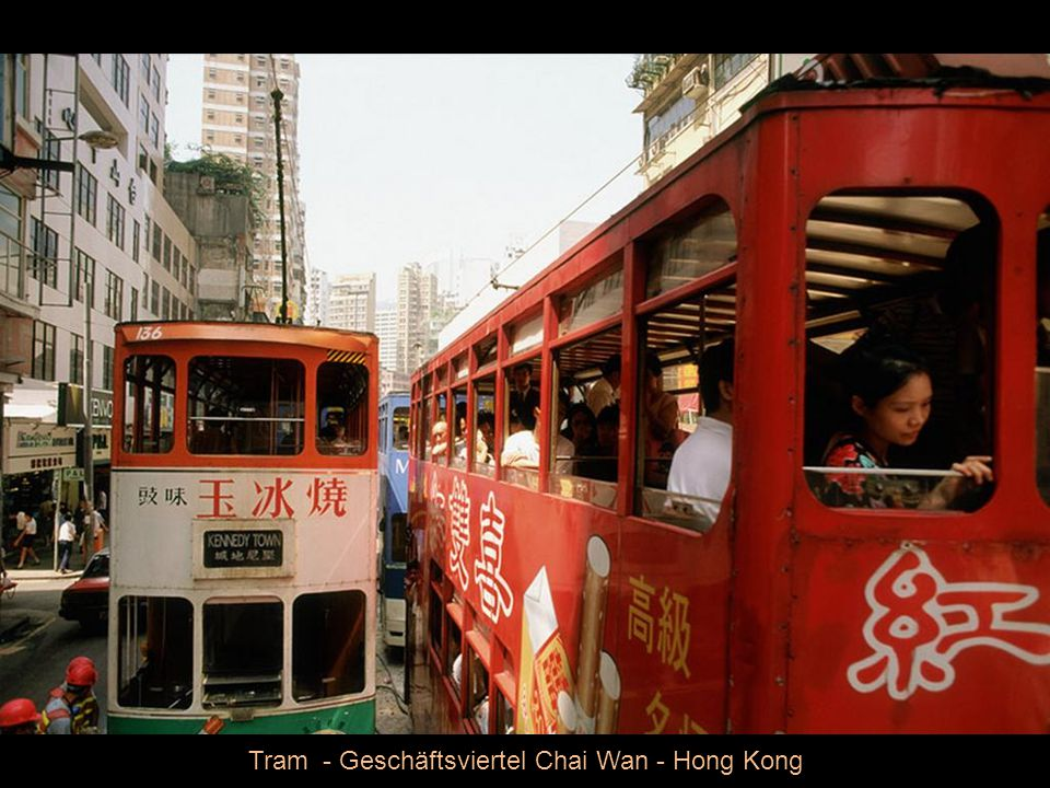 Tram - Geschäftsviertel Chai Wan - Hong Kong