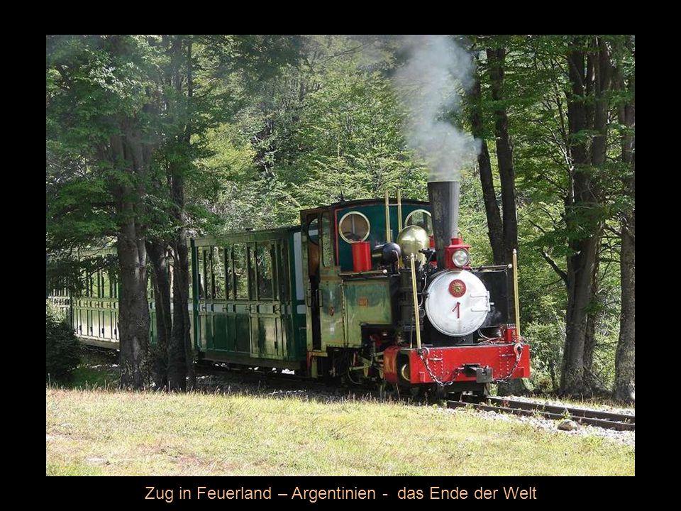 Zug in Feuerland – Argentinien - das Ende der Welt