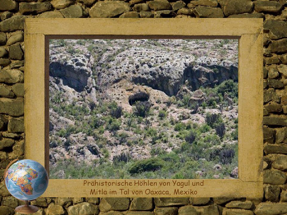 Prähistorische Höhlen von Yagul und Mitla im Tal von Oaxaca, Mexiko