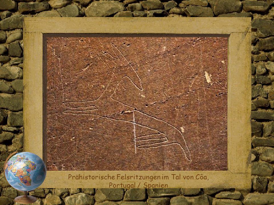 Prähistorische Felsritzungen im Tal von Côa, Portugal / Spanien