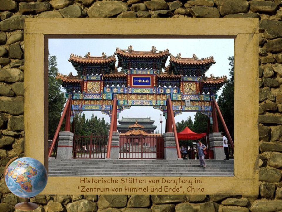 Historische Stätten von Dengfeng im Zentrum von Himmel und Erde , China