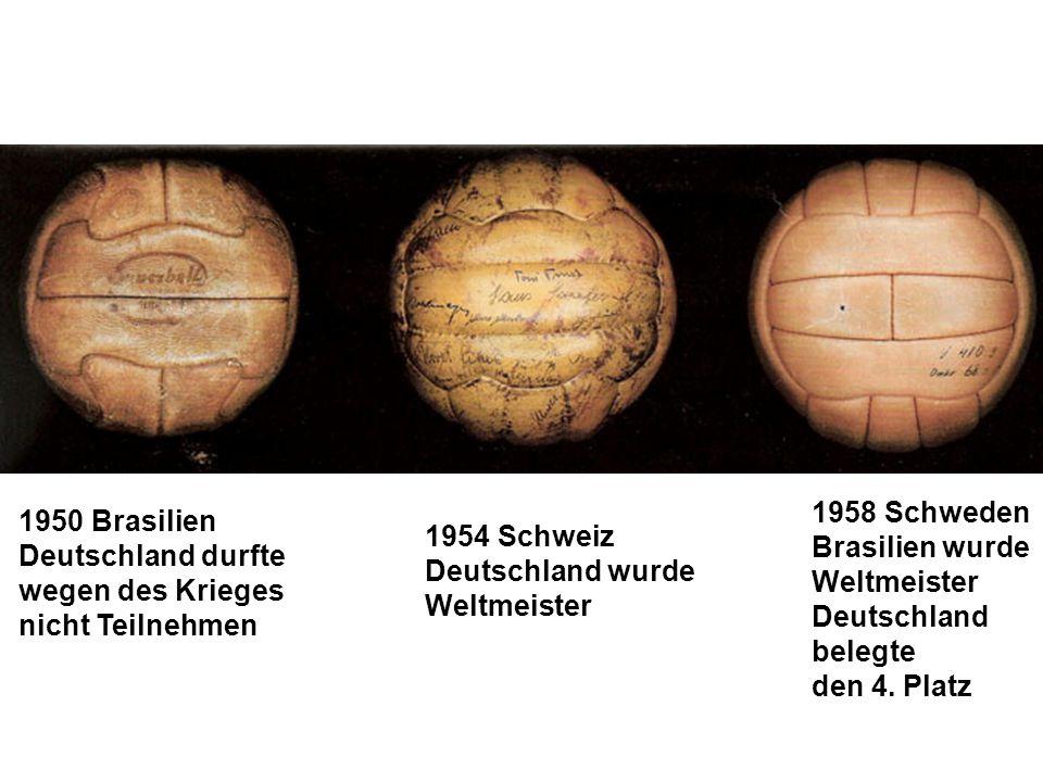 1958 Schweden Brasilien wurde. Weltmeister. Deutschland. belegte. den 4. Platz. 1950 Brasilien.