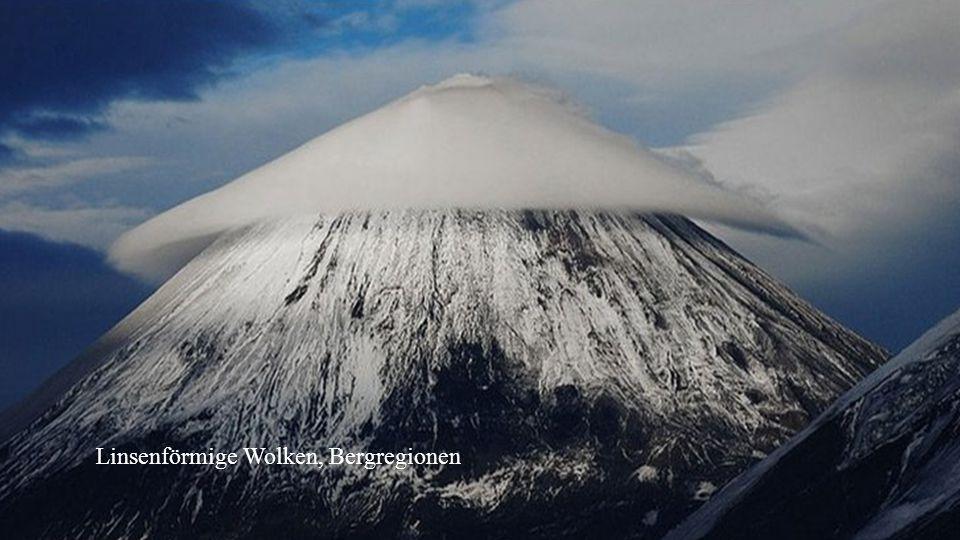 Linsenförmige Wolken, Bergregionen