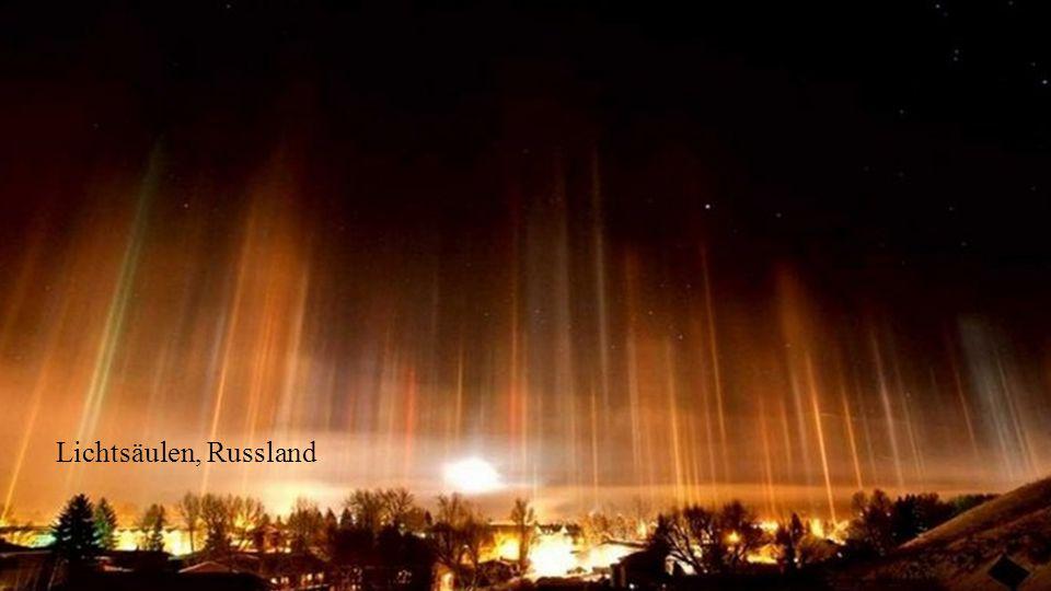 Lichtsäulen, Russland