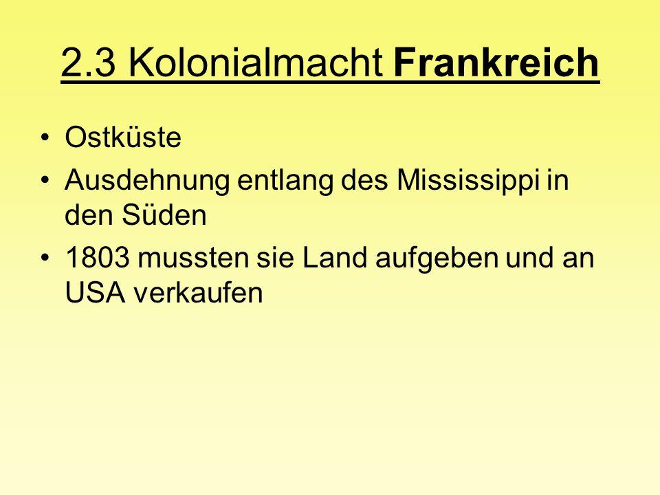 2.3 Kolonialmacht Frankreich