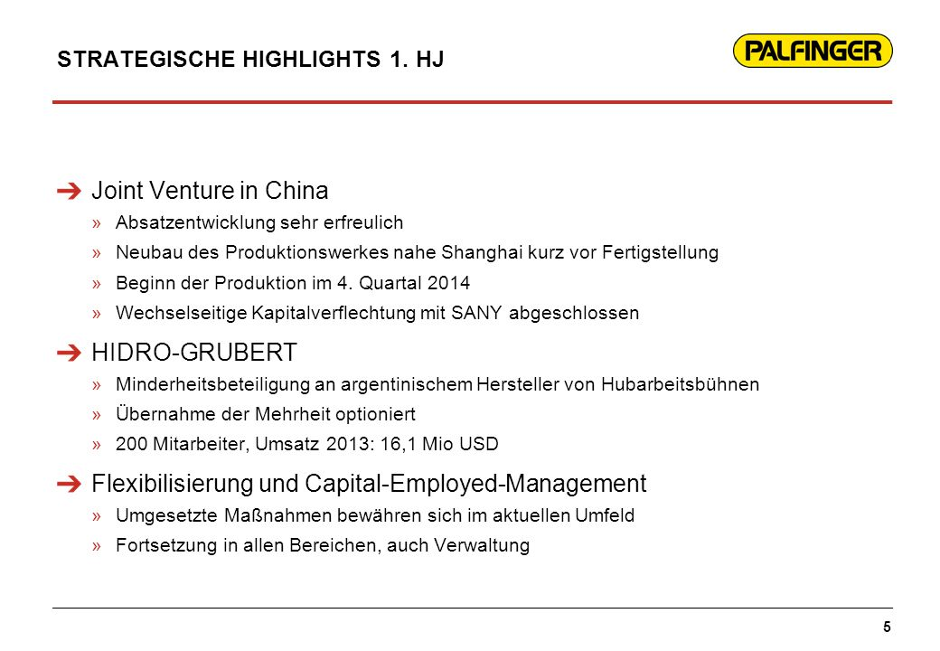 STRATEGISCHE HIGHLIGHTS 1. HJ