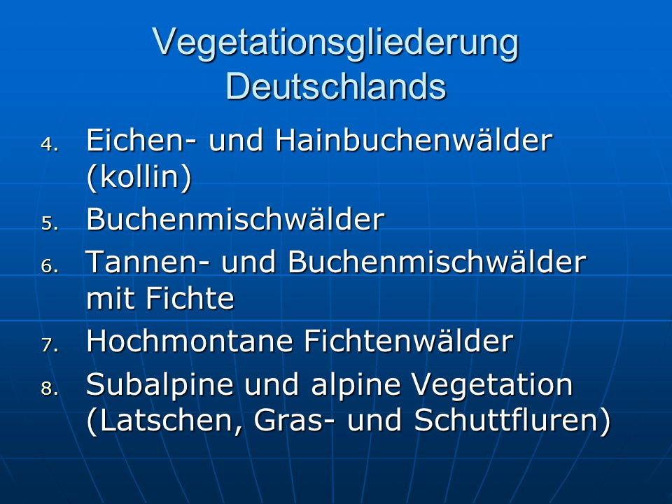 Vegetationsgliederung Deutschlands