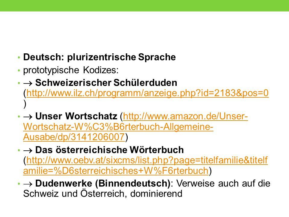 Deutsch: plurizentrische Sprache