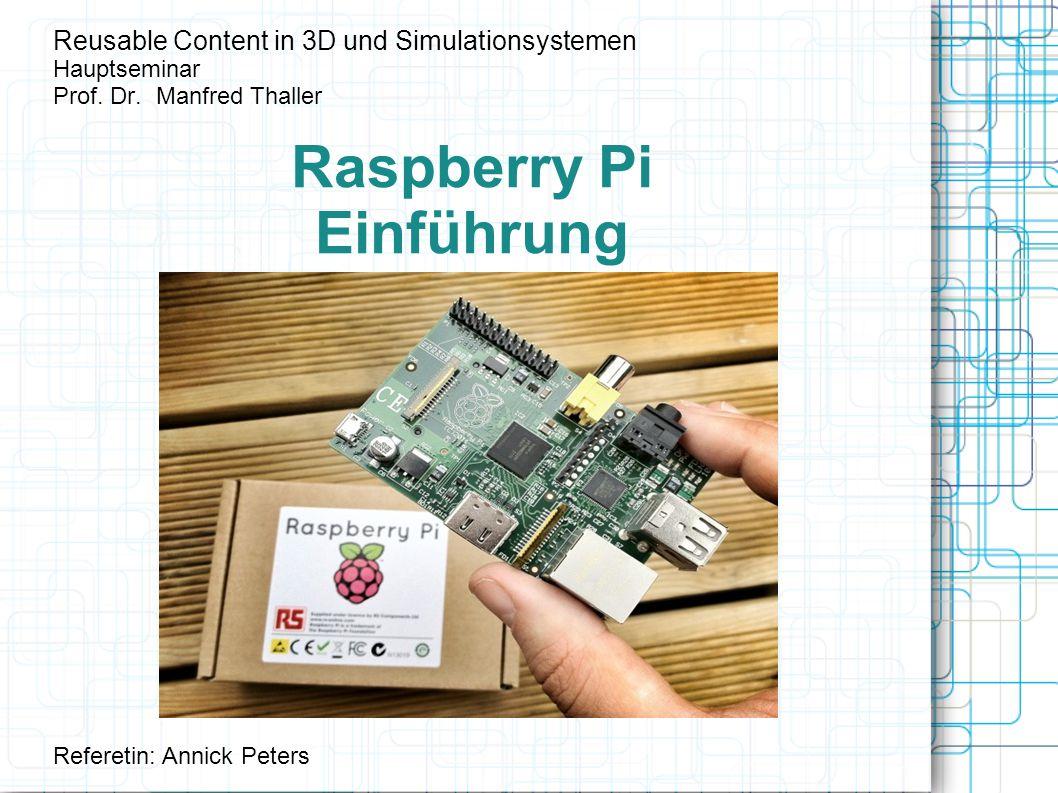 Raspberry Pi Einführung