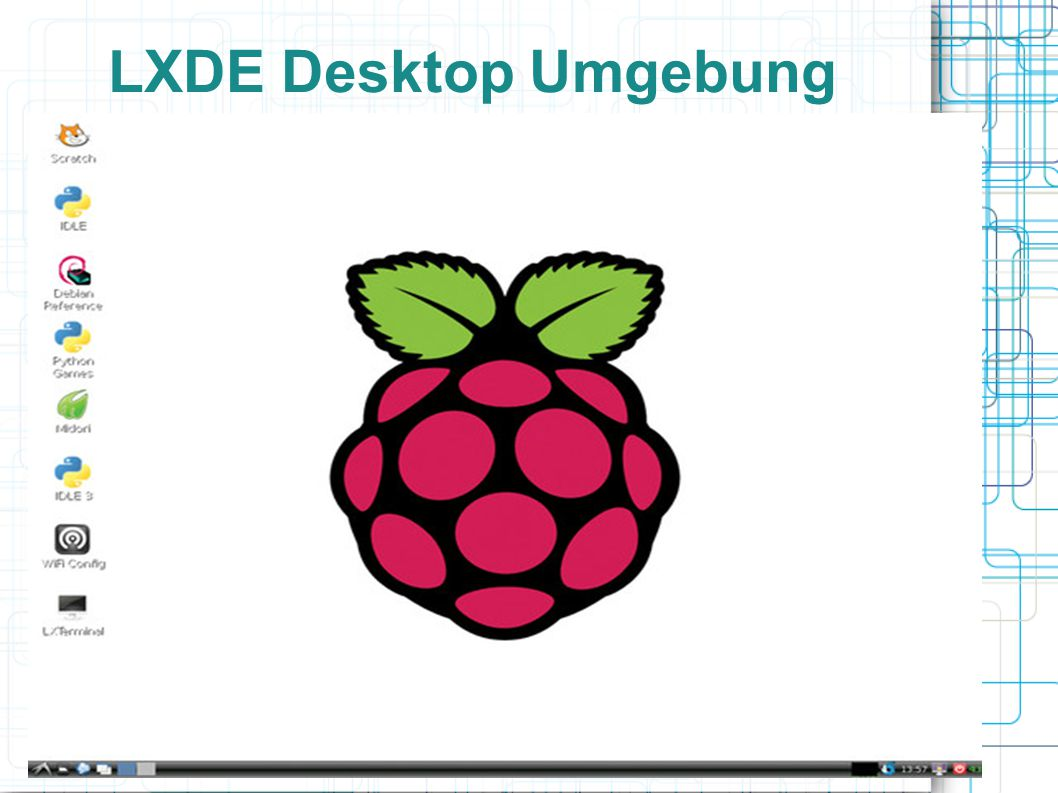 LXDE Desktop Umgebung