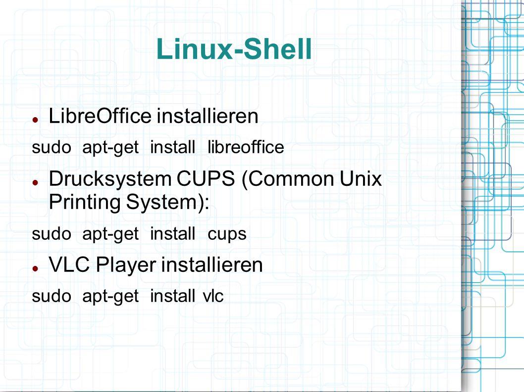 Linux-Shell LibreOffice installieren