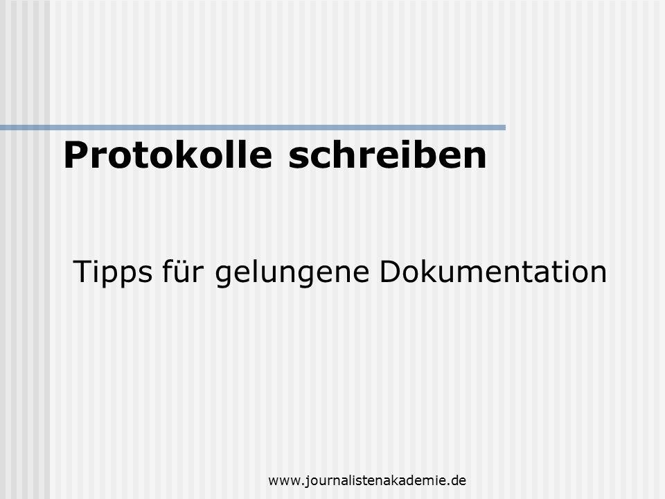 Protokolle schreiben Tipps für gelungene Dokumentation